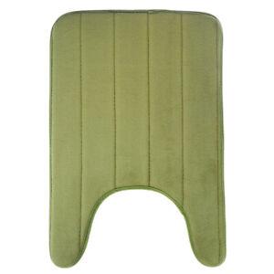 U-Shaped Memory Foam Bath Mats Toilet Mat Bathroom Coral Fleece Carpet Home D TM