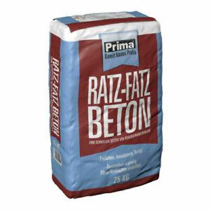 Ratz Fatz Beton Schnellbeton Garten 25 kg