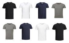 Jack & Jones 4er Pack Farbmix T-Shirts Rund & V-Ausschnitt