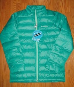 Boys Girls Youth Columbia Airspace Down Insulated Winter Ski Jacket  NWT Emerald