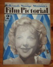 FILM PICTORIAL Vol III No 74 22ND JULY 1933 IDA LUPINO COVER MARLENE DIETRICH