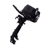 Boat Engine 2 Stroke Outboard Motor Tiller Shaft 6 HP with Water Cooling System