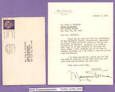 Margaret Truman Autographed Carlyle Letter w/ Envelope Harry Truman 1954 PSA DNA