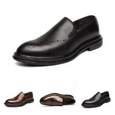 Men's Low Top Dress Formal Faux Leather Shoes Pointy Toe Oxfords Slip on Party D