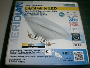36W Equivalent Bright White (3000K) PAR36 Non-Dimmable LED BY MERIDIAN