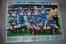 POSTER )) G.BORDEAUX & MARSEILLE OM  Coupe d'Europe 1987/88
