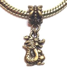 BRONZE DRAGON_Bead for European Charm Bracelet_Fire Mythical Fairy Tale_F19