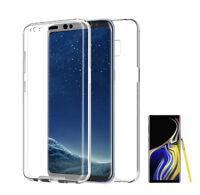 Samsung Galaxy NOTE 9 Funda doble Delantera +TRASERA RIGIDA CARCASA 360 2 CARAS