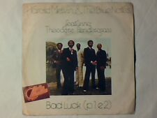 """HAROLD MELVIN & THE BLUE NOTES Bad luck 7"""" ITALY TEDDY PENDERGRASS UNIQUE PS"""