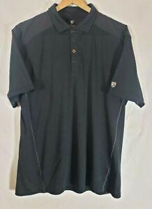 Kuhl #7268 Men's Vituoso Polo - Black - Size XL*