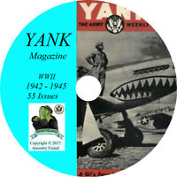 Yank Magazine - 55 Issues - WWII World War - Newspaper - soldiers CD DVD