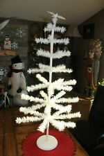 "37"" Cream Feather Tree On Wood Stand-Valentine'S Tree- Easter Tree- Christmas"