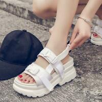 Womens Sport Chic Sandal Open Toe Preppy Slingback Shoes Platform Creeper Casual
