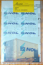 A-Line HO #25819 Decals for: NOL 20' & 40' Containers