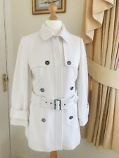 John Richmond Ivory Fitted Belted Coat, Size 14