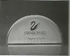 1997 Swarovski signature Jewelry crystal plaque Store Display
