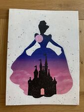 More details for hand painted disney princess canvas - cinderella. only 1 available,original art.