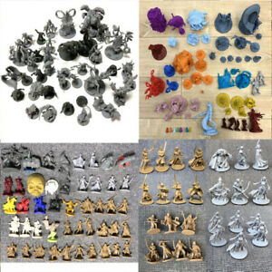 Lot Dungeons & Dragons DND Miniatures War Board Game Figures Set Toys