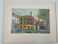 Maurice Utrillo Factories (Les fabriques) 1911 - building street scene