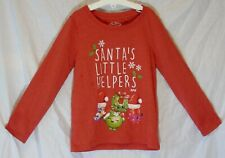 Girls Next Red Shopkins Santa's Little Helpers Xmas Long Sleeve Top Age 5 Years