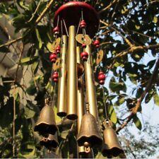 Amazing 5Bells 4 Tubes Copper Yard Garden Outdoor Living Wind Chimes