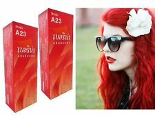2X BERINA HAIR COLOR CREAM BRIGHT RED COLOR A23 PERMANENT HAIR DYE SUPER COLOR
