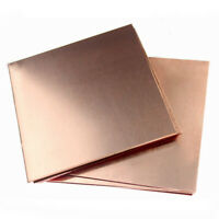 Copper Metal Thin Sheet Foil Plate Shim Thick 0.2mm/0.5mm/0.8mm/1mm 100X100mm