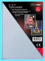5 Ultra Pro Toploaders 5x7 NEW Photo Masterpiece Card Rigid Storage Topload Hard
