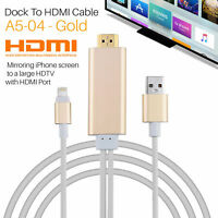 Lightning to HDMI CABLE-iPhone iPad Screen To TV Cable HDMI 1080p USB Charger