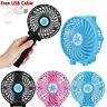 Rechargeable Fan Air Cooler Operated Hand Held USB 18650 Battery Portable Outdoo