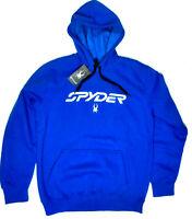 Spyder Hoodie Pullover Old Glory Fleece Sweater Sweatshirt Mens Size XL Blue NEW