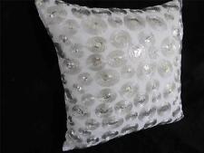 'CHANTAL' Silver Threads & Sequins Cushion Cover 40cm
