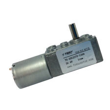 6Vdc 1rpm pmdc Worm Gear 370 Motor Low Speed Reversible Right Angel Shaft 1/4 in