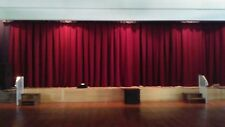 School / Church Pleated Stage Curtains 12'T x 28'W with fire rating 75% discount