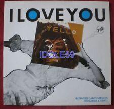 Disques vinyles maxi 45 tours yello