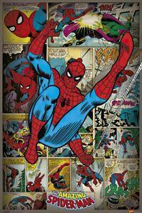 "Spider-Man - Marvel Comics Poster (Retro Design - Swinging) (Size: 24"" X 36"")"
