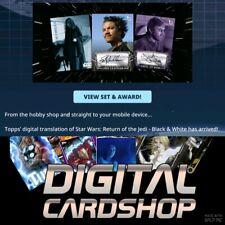 Topps Star Wars Trader ROTJ Black & White Wave 2 PURPLE BASE + SIGNATURE 32 CARD