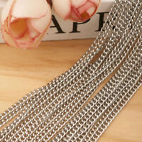 Wholesale Stainless Steel Twisted Curb Chain Necklace Jewelry Findings 3mmx2mm