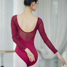 Women Leotard Bodysuit Ballet Dance Wear Backless Tops Gymnastics Practice