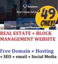 Real Estate Block Management Web Site Free Domain Hosting Seo Website Design