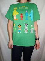 Sesame Street Pixelated Green T-shirt Size M Sesame Street Characters