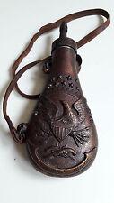 OLD WEST COLT POCKET MODEL Pistol eagle gun powder flask