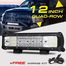 """12"""" 1128W QUAD-ROW CREE LED Light Bar Flood Spot Offroad Pickup Truck 4WD 15/20"""""""