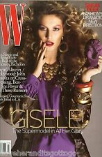 July 2007 W Magazine W/ Supermodel Gisele Bundchen Mrs. Tom Brady UNREAD NEW