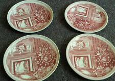 "Williams Sonoma Wedgwood Christmas Eve 8-3/4"" Plates Lot of 4 Made in England"