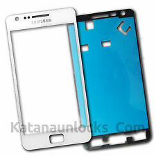 Bildschirm Glas für Samsung Galaxy S2 i9100 SII Weiß Mit Klebe