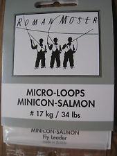 3 Premium Quality Roman Moser Minicon Salmon & Saltwater Braided Loops #7-12