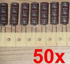 50x LowESR LXV Nippon Elko 2200µF 6,3V 105°C Kondensator Mainboard 1500 1800 µF