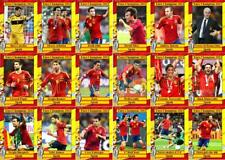 Spain 2012 European Championship winners football trading cards Euro 2012