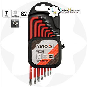 Torx Security Tamperproof Allen Key Set 7pcs S2 Steel Yato YT-0562